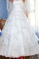 красивое свадебное платье,  1 раз б/у